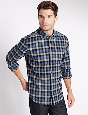 Pure Cotton Long Sleeve Shirt