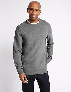 Big & Tall Pure Cotton Crew Neck Sweatshirt