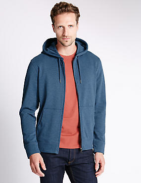 Zipped Hooded Top