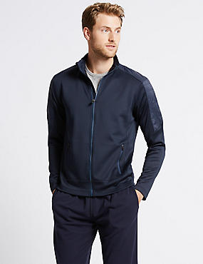 Funnel Neck Zipped Through Sweatshirt