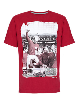 Pure Cotton Football T-Shirt Clothing