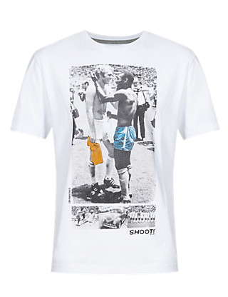 Pure Cotton Sports Icon Football T-Shirt Clothing