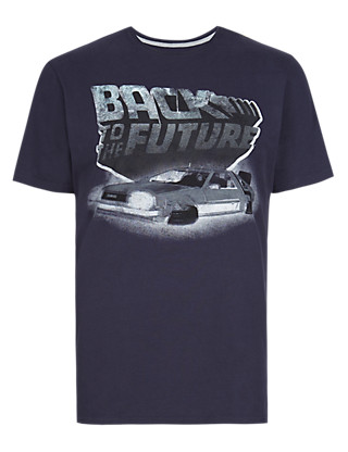 Pure Cotton Back to The Future T-Shirt Clothing