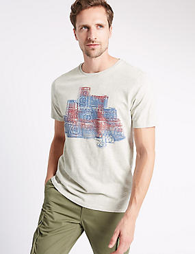 Tailored Fit Pure Cotton Printed T-Shirt