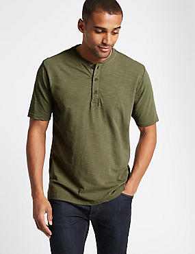 Pure Cotton Textured Authentic Top, KHAKI, catlanding