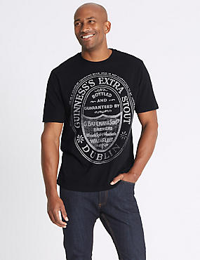 Pure Cotton Guinness Crew Neck T-shirt