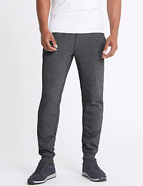 Cotton Rich Cuffed Hem Joggers