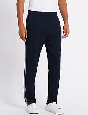 Cotton Rich Tailored Fit Textured Joggers