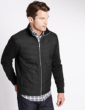 Cotton Rich Tailored Fit Quilted Jacket