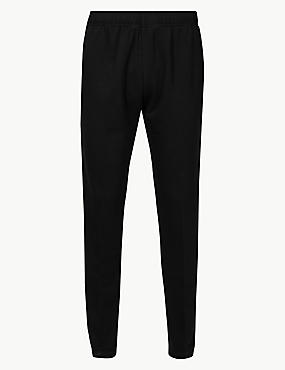Cotton Rich Joggers, BLACK, catlanding