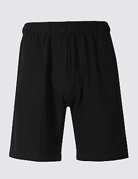 Cotton Rich Sweat Shorts, BLACK, catlanding