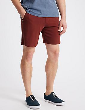 Pure Cotton Textured Shorts, DARK RED, catlanding