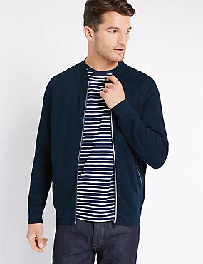 Pure Cotton Front Zip Through Sweatshirt