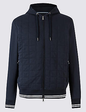 Cotton Rich Quilted Active Hoody