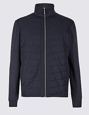 Cotton Rich Quilted Zip Through
