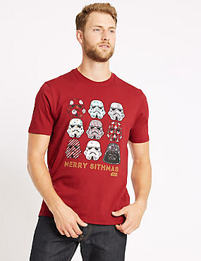 Star Wars™ Stormtrooper Christmas T-Shirt, RUBY RED, catlanding