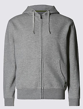 Cotton Rich Long Sleeve Hooded Top