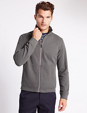 Tailored Fit Funnel Neck Sweatshirt