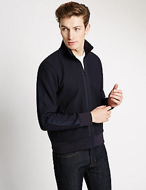 Tailored Fit Funnel Neck Fleece Top