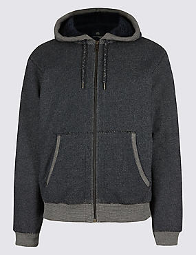 Zipped Through Fleece Jacket