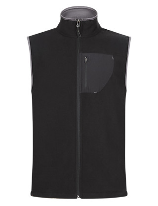 Slim Fit Anti Bobble Thermal Microfleece Gilet Clothing