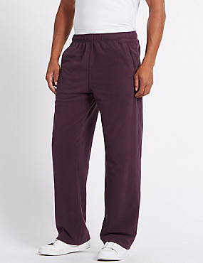 Fleece Joggers with StayNEW™, CLARET, catlanding