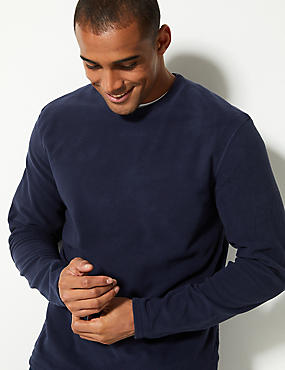 Crew Neck Fleece Top, , catlanding