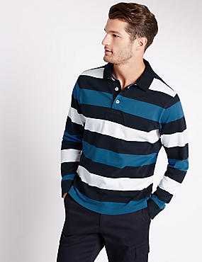 Big & Tall Pure Cotton Stripe Rugby Top