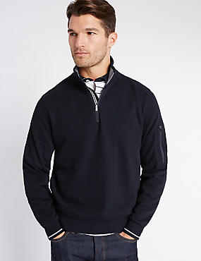 Pure Cotton Textured Rugby Top