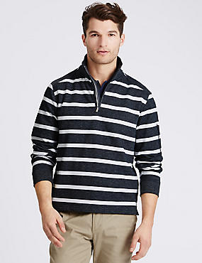 Cotton Rich Striped Rugby Top
