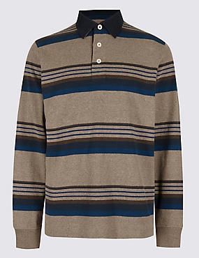 Pure Cotton Striped Rugby Top