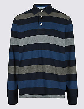 Big & Tall Pure Cotton Striped Rugby Top