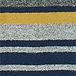 Pure Cotton Striped Rugby Top, CHARCOAL MIX, swatch