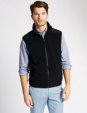 Tailored Fit Sports Gilet Fleece Top
