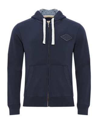 Cotton Rich Hooded Top Clothing