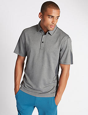 Tailored Fit Textured Polo Shirt