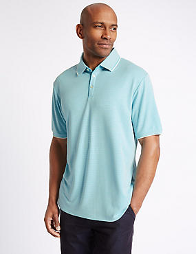 Modal Rich Striped Polo Shirt