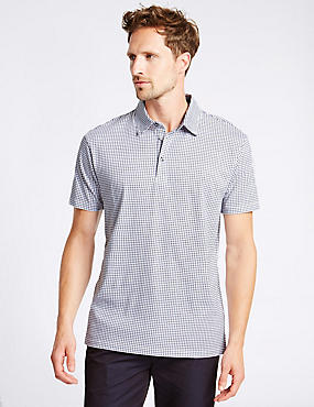 Big & Tall Pure Cotton Checked Polo Shirt