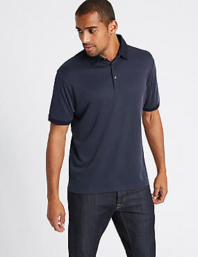 Big & Tall Modal Rich Textured Polo Shirt