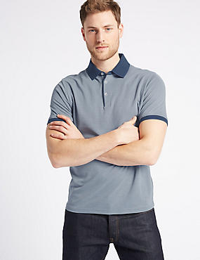 Modal Rich Slim Fit Textured Polo Shirt, , catlanding