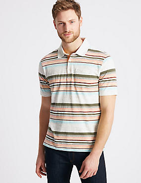 Slim Fit Striped Polo Shirt