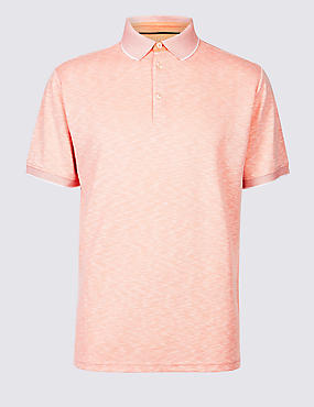Modal Rich Textured Polo Shirt