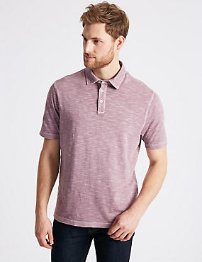 Pure Cotton Textured Authentic Polo Shirt
