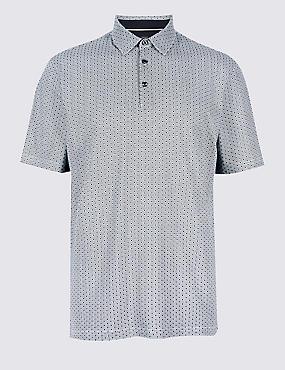 Regular Fit Pure Cotton Polo Shirt, WHITE MIX, catlanding