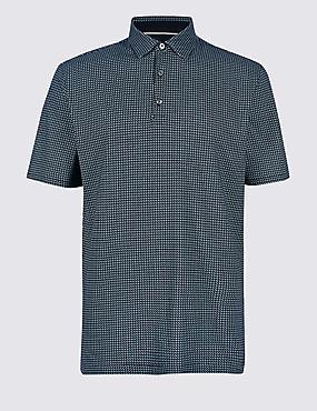 Regular Fit Pure Cotton Polo Shirt, NAVY MIX, catlanding