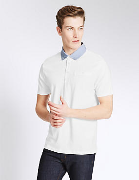 Slim Fit Cotton Rich Polo Shirt