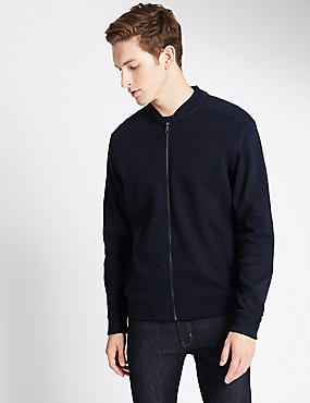 Cotton Rich Tailored Fit Quilted Ball Sweatshirt