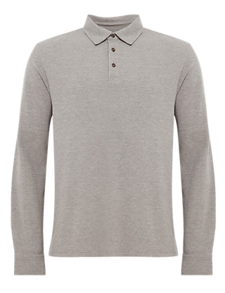 Textured Polo Shirt Clothing