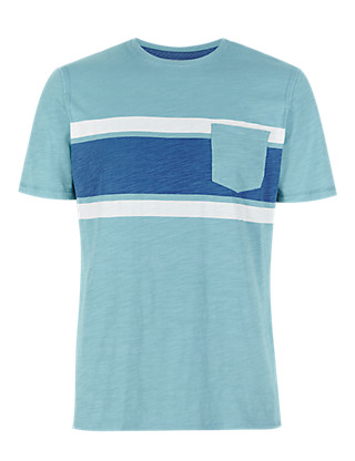 Pure Cotton Textured T-Shirt Clothing