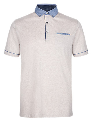 Polo Shirt with Silk Clothing